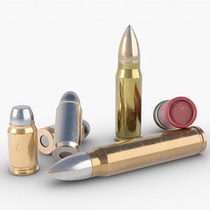 mm bullet shell model