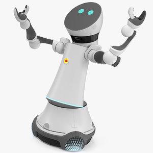 3D 4 service robot rigged