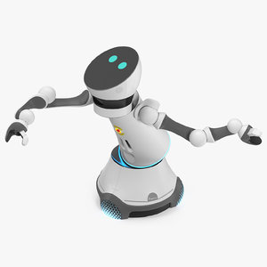 care-o-bot 4 service robot 3D model