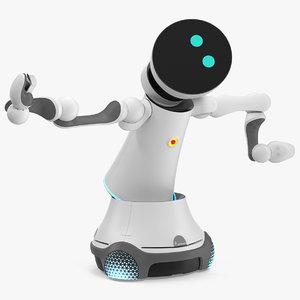 4 service robot rigged model