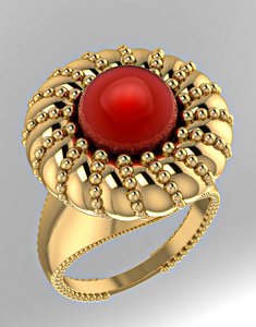 3D luxurious ring pearls