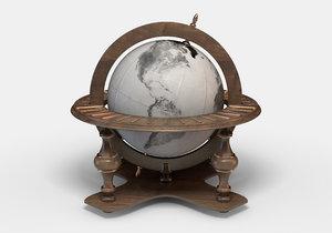 3d model classic world globe
