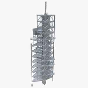 rocket launch tower 3D model
