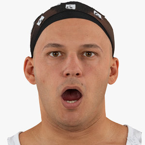 marcus human head mouth 3D