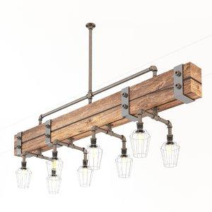 industrial hanging lamp 3D model
