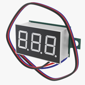digital voltmeter 3D model