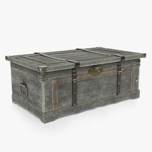 old chest 3D