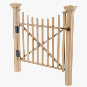 wooden fence gate model