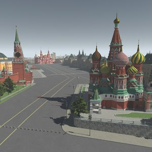 3D moscow red square