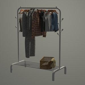 3D wardrobe set model
