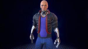 cyberpunk character 3D model