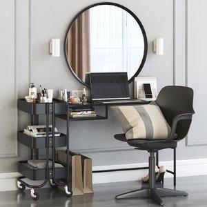 dressing table vittsjo laptop 3D model