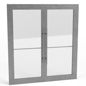 aluminium french doors 3D