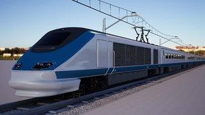 3D train railway track model