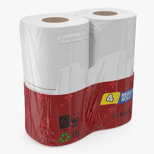 3D toilet tissue 4 rolls