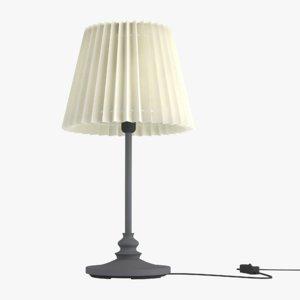 3D table lamp lighting