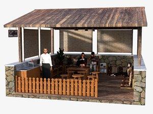 cafe oriental 3D model