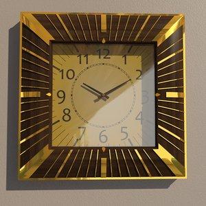 square wall clock 3D model