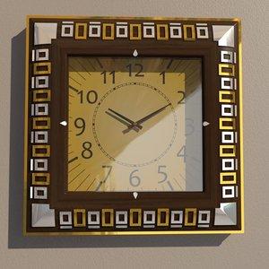 3D square wall clock decoration