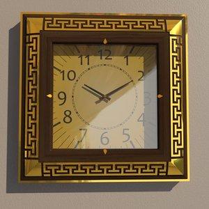 square wall clock 3D