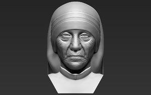 mother teresa bust printing 3D model