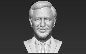 steven spielberg bust printing 3D model