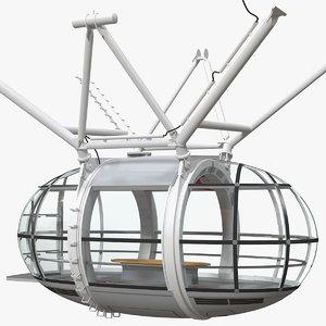 millennium wheel passenger capsule 3D model