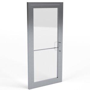 storefront glass door 3D model