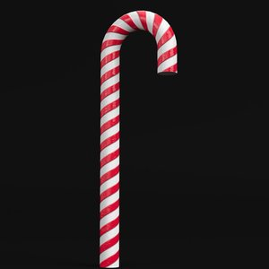 3D striped candy cane