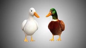 mallard duck 3D