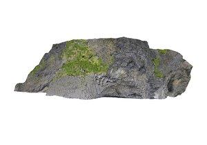 3D iceland basalt cliff cave