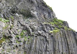 3D model iceland basalt cliff