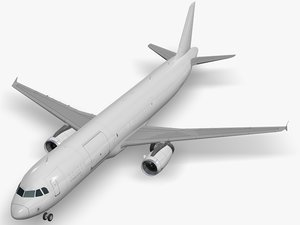 airbus aircraft generic white 3D