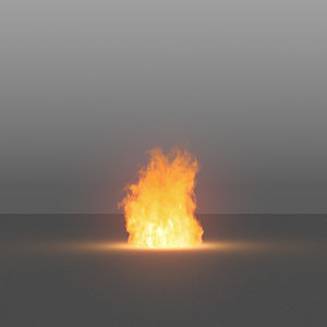 burning flames 01 vdb 3D