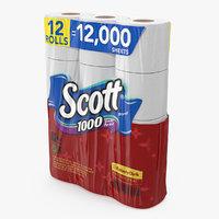 Scott Bath Tissue 12 Rolls