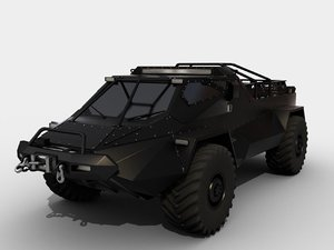 3D model ripsaw wheeled version