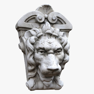 lion head wall decor model