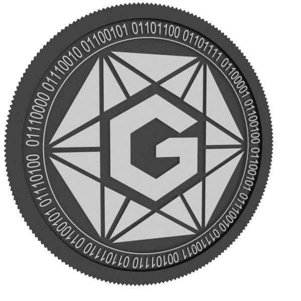 3D gravium black coin
