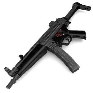 gun mp5 rigged model