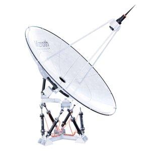 3D satelite dish hexapod platform