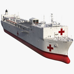 usns mercy t ah 3D model