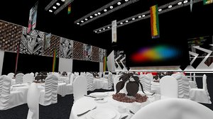 event exhibition conference diner 3D