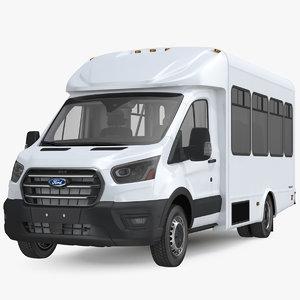 executive shuttle bus transit 3D