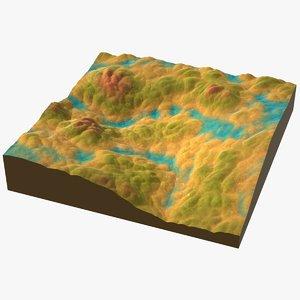 3D model cartoon terrain