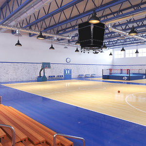 real sports hall 3D model
