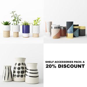 3D model shelf accessories