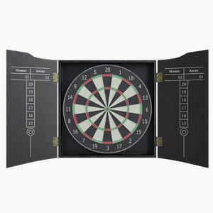 modeled dartboard 3D