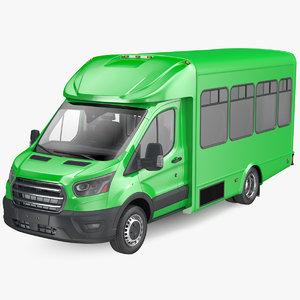 passenger shuttle bus 3D model