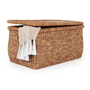 3D beachcomber baskets handwoven seagrass model