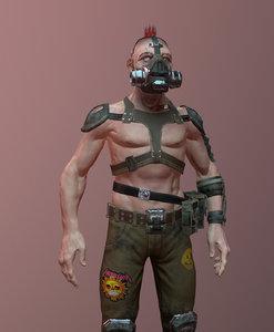 3D human punk